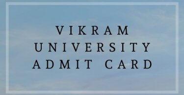 Vikram University Admit Card